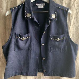 Vintage Navy Angel Vest | Size Boy's 12-14